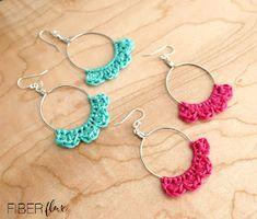 Crochet Earrings Pattern, Crochet Jewelry Patterns, Crochet Bracelet, Crochet Jewellery, Crochet Gifts, Diy Crochet, Crochet Hooks, Crochet Ideas, Crochet Stitches