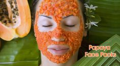 Papaya can be extremely good when you desire for a healthy looking youthful glow. The good thing about papaya is that they have enzyme papain that helps fade the dark spots, induces skin fairness and removes blemishes from your face. Papaya Face Pack, Papaya For Skin, Papaya Facial, Facial Treatment, Skin Treatments, Natural Facial, Natural Skin Care, Aloe Vera, Dry Skin Remedies