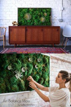 Fine Moss Art by Art Botanica. Moss Wall Art, Moss Art, Moss Graffiti, Kenny Scharf, Barbara Kruger, Forever Green, Various Artists, Flora, Vibrant