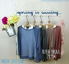 Jersey de encaje con camiseta colección primavera 2016  www.pequeñamoma.com