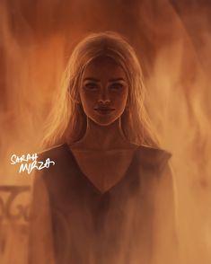 Amazing Illustration of Daenerys Stormborn from GOT Season 6 Scene by Sarah…