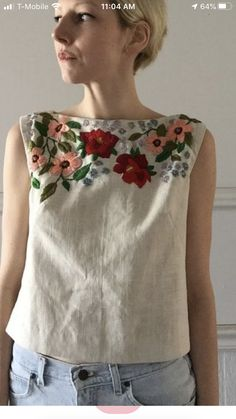 Needle And Thread, Indian Wear, Upcycle, Applique, Tunic Tops, Embroidery, Sewing, Knitting, How To Wear