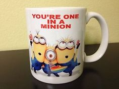 Ceramic-Coffee-Mug-Cup11oz-White-Despicable-Me-Youre-One-in-a-Minion-Gift