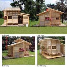MAKE A CUTE PLAYHOUSE FOR UR KIDS FROM OLD PALLETS SO CUTE CHRAP N EASY KIDS WILL LOVE PLEASE LIKE<3