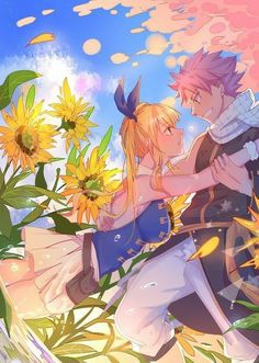 Lucy and Natsu Fairy Tail Fairy Tail Love, Lucy Fairy, Arte Fairy Tail, Fairy Tail Family, Fairy Tail Natsu And Lucy, Fairy Tail Guild, Fairy Tail Couples, Fairy Tail Ships, Fairy Tail Anime