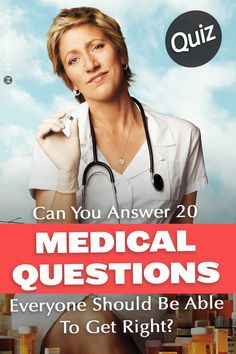 Medical Questions QUIZ: Are you considering going into the medical field, or, have you watched a lot of Gray's Anatomy? Let's see how much you really know! Quiz Questions And Answers, Medical Questions, Grey's Anatomy Quiz, Greys Anatomy, Quizzes For Fun, Interesting Quizzes, Knowledge Quiz, Never Have I Ever, Trivia Quiz