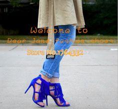 Pas cher Exquis dames chaussures de soirée bleu royal à lanières en daim gland sandales talon aiguille à bout ouvert fringe dress chaussures rouge jaune gris, Acheter Sandales de qualité directement des fournisseurs de Chine: Exquis dames de partie chaussures royal bleu suède lanières gland sandales Stiletto talon bout ouvert frange robe chaus