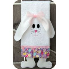 Towel Leg Designs :: Bunny Legs Towel - Embroidery Garden | Unique in the hoop machine embroidery design files