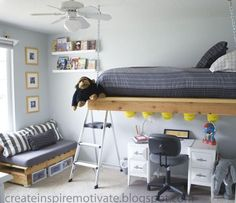 Gorgeous Loft Bed Design Ideas for Small Room