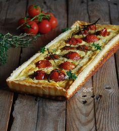Goat cheese and tomatoes tart - Tarta de queso de cabra y tomates confitados