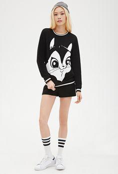 Penelope Pussycat Sweatshirt | FOREVER21 - 2000117559