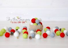 Hey, I found this really awesome Etsy listing at https://www.etsy.com/listing/242083049/christmas-felt-balls-100-wool-felt-balls