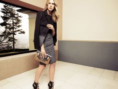 Iselin Steiro for Escada's fall 2012 campaign. Description from fashiontographer.com. I searched for this on bing.com/images