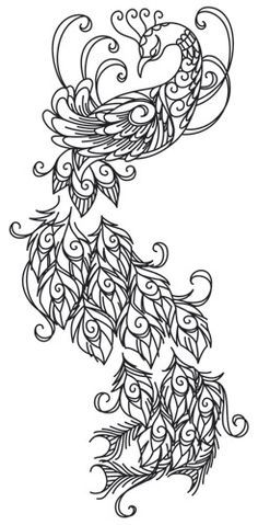 Preening peacock urban threads: unique and awesome embroidery designs. Peacock Coloring Pages, Colouring Pages, Zentangle, Peacock Art, Peacock Design, White Peacock, Paper Embroidery, Embroidery Patterns, Wedding Embroidery