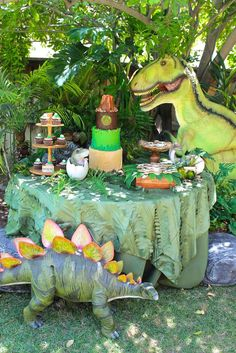 Dinosaurs birthday party! See more party planning ideas at CatchMyParty.com!