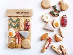 Cookie Frosting, Royal Icing Cookies, Sugar Cookies, Icebox Cookies, Cute Cookies, Cookie Designs, Cute Food, Food Design, Cookie Decorating