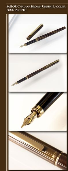 SAILOR Chalana Lacquer Fountain Pen (metal body, Urushi lacquer, gold-plated trim, 14kt gold nib) - 1990s / Japan