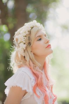 Bridal hair crown Flower crown White bridal by whichgoose on Etsy, $65.00