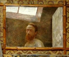 Pierre Bonnard (F, - Self-Portrait in a Bamboo Mirror - 1890 - Private collection Pierre Bonnard, Edouard Vuillard, Bamboo Mirror, Avant Garde Artists, Art Populaire, Great Paintings, Modern Artists, Art History, Fine Art