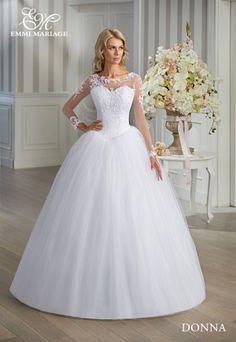30/15 Suknia Emmi Mariage model Donna, kolor biel, rozm. 36/38, wzrost 170