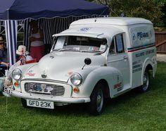 Nicely restored Morris Minor van.
