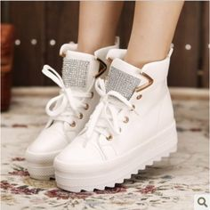 2013 platform canvas shoes in the Candy-colored Korean high top leisure women shoes