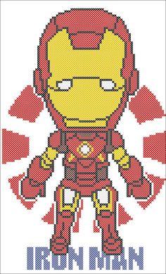 BOGO FREE! IRON Man Marvel Comics Civil War Cross stitch pattern  -pdf cross stitch pattern  -  pdf pattern instant download #145 by Rainbowstitchcross on Etsy