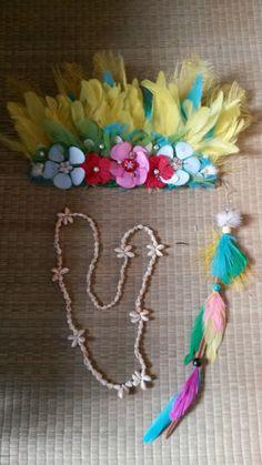 Kit  plumes carnaval bandeau & boucle d'oreille