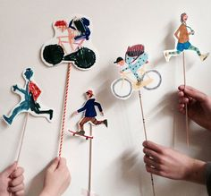Create your own paper puppet show on Famille Summerbelle website! Projects For Kids, Diy For Kids, Crafts For Kids, Paper Puppets, Paper Toys, Diy Paper, Paper Crafts, Diy And Crafts, Arts And Crafts