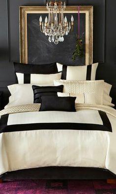 10 Gestaltung Schlafzimmer Schwarz Und Weiss Kissen Kronleuchter Aus  Kristall