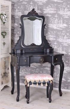 Colorful Furniture, Painted Furniture, Makeup Dressing Table, Dressing Tables, Vanity, Bedroom, Design, Home Decor, Interiors