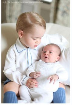 First Official Photo of Prince George and Princess Charlotte Elizabeth Diana