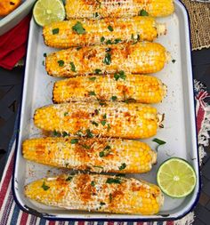 Mexican Street Corn Discover 15 No-Fuss Backyard BBQ Side Dish Recipes This grilled corn is topped with Greek yogurt and Parmesan. Corn Recipes, Side Dish Recipes, Mexican Food Recipes, Bbq Recipes Sides, Easy Bbq Recipes, Salad Recipes, Bbq Party, Bbq Food Ideas Party, Bbq Dinner Ideas