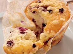 Muffins aux Myrtilles glacés à la Cannelle -  testée a Morzine: bon et glacage top!