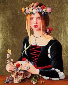 """Saatchi Art Artist Titti Garelli; Painting, """"Death and the Maiden"""" #art"""