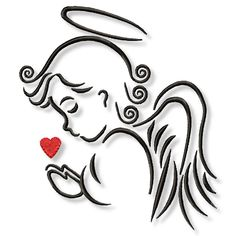 Stickmuster - Engel 10x10 und 13x18 Stickdatei - ein Designerstück von GretevomLaendle bei DaWanda Jesus Drawings, Easy Drawings, Christmas Rock, Christmas Crafts, Baby Angel Tattoo, Cut Out Art, Angel Artwork, Angel Drawing, Angel Pictures