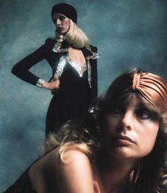 BIBA, early seventies . Loving the turban headbands ! 1970s fashion