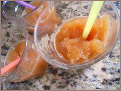 apple cider slushy...just make apple cider, pour into shallow baking dish put in freezer for 30 min-stir every 10