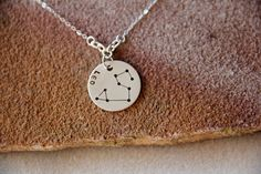 Sterling Leo Power Stone Necklace by StudioNineJewelry on Etsy