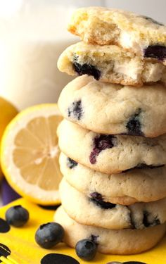 Lemon Blueberry Cheesecake Cookies INGREDIENTS: 1 cup unsalted butter, room temperature 1 cup granulated sugar Zest of 1 lemon 3 tbsp lemon juice 2 eggs 1/2 tsp baking soda 1/2 tsp baking powder 1 tsp salt 3 cup flour 1 cup blueberries 1/2 pkg cream cheese, cut into 1 tsp cubes Change around this recipe and make it paleo!
