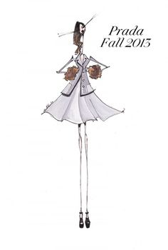 Prada Fall 2013 Illustration by Jamie Lee Reardin