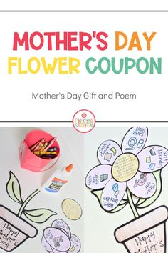 Help your little learners celebrate that special mom, grandmother, aunt or special friend with this Mother's Day Coupon flower. Have your little learners brainstorm all the things their special person does for them and let them take over for the day! #mothersday #gifts #littlelearners #preschool Toddler Learning Activities, Spring Activities, Science Activities, Flower Coupons, Special Gifts For Mom, Parts Of A Flower, Pretty Images, Play To Learn, Grandmothers