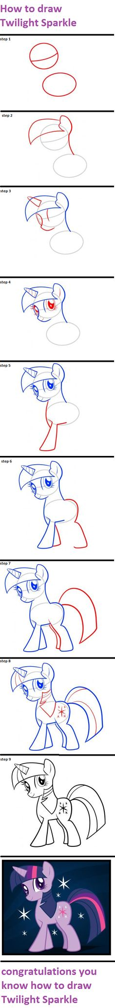 How to draw Twilight Sparkle by monselombax
