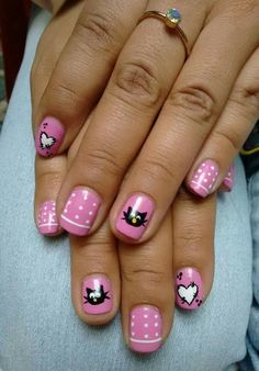Gato Creative Nails, Cool, Nail Ideas, Awesome, Pretty, Beauty, Little Girl Nails, Perfect Nails, Cat