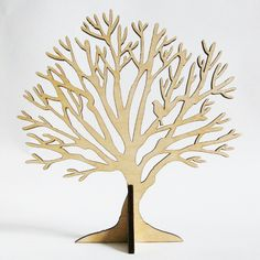 Small Tree Stand with bird - jewellery holder - wood Bird Jewelry, Jewelry Tree, Jewelery, Jewellery Storage, Jewellery Display, Jewelry Holder Stand, Jewellery Holder, Laser Cutter Projects, 3d Tree