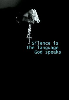 Silence For me, it is within the silence that he speaks when I slow down, disconnect, and focus~  Vio~