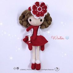 Winter doll. Only inspiration, no pattern
