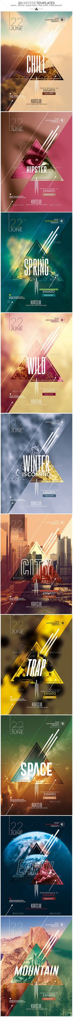 Package Hipster | Psd Templates - Clubs & Parties Events: