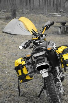 Motorcycle camping with the yamaha wr250r.  Adventure time!