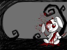 Emo Bunny Photo: hrlp the poor bunny. This Photo was uploaded by Dark Art Illustrations, Illustration Art, Emo Cartoons, Emo Wallpaper, Emo Princess, Emo Art, Emo Scene, Cybergoth, Dark Fantasy Art